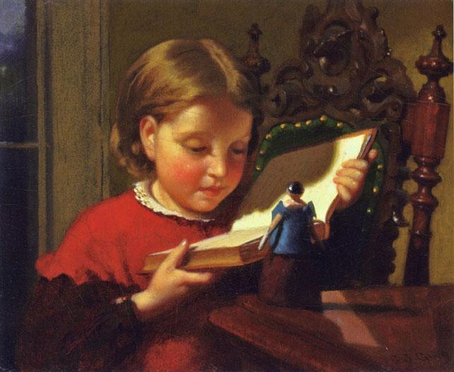 L'enfance des soeurs Brontë a été marqué par une vive passion pour la lecture, et par ces 12 petits soldats de bois que reçu un jour Branwell et qui furent le point de départ des jeux de rôles du monde imaginaire d'Angria et de Gondal © Joseph Guy Seymour (1824-1910)