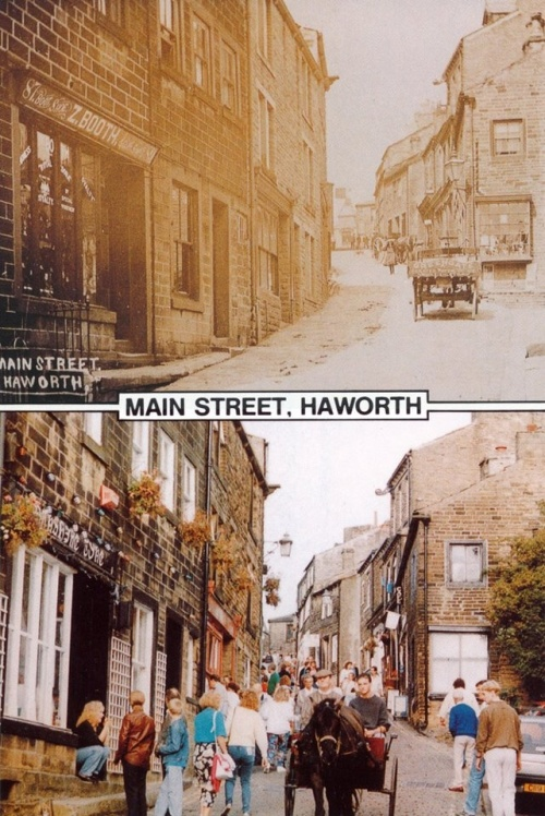 Haworth, rue principale (hier et aujourd'hui)