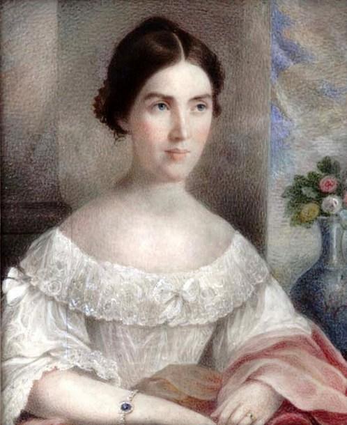 Elle évoque pour moi Emily/Shirley. Il s'agit en fait d'Harriet Hampton © Charles Fraser (1782-1860)