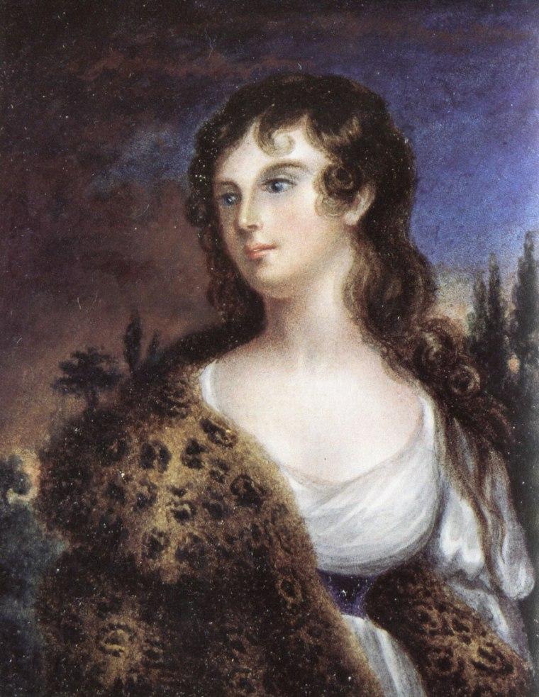 Charlotte Brontë, 1839, Femme avec fourrure de léopard