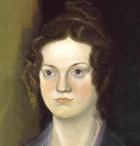 Charlotte par Branwell (portrait de groupe dit «à la colonne») c.1834.