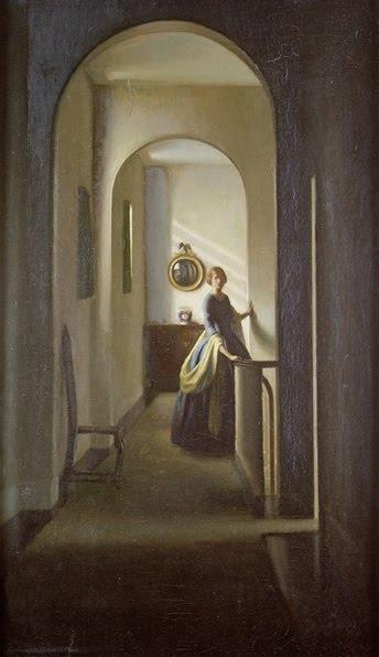 On dirait Jane Eyre hantant les couloirs de Thornfield Hall, la maison d'Edward Rochester... © Leonard Campbell Taylor