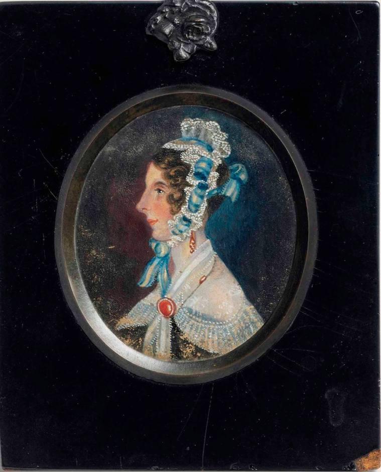 Miniature de Mrs Hudson par Charlotte Brontë, vers 1839