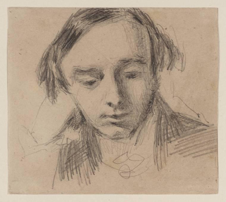 L'hypothèse du collectionneur d'art James Gorin von Grozny est qu'il s'agit d'un dessin de William Henry Hunt (Tate Gallery) représentant Branwell Brontë.