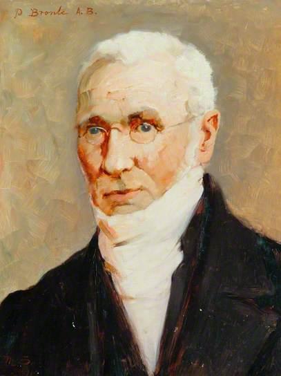 Portrait de Patrick Brontë, réalisé avant 1894. Ce tableau est inspiré d'une photographie originale retrouvée en 2009.