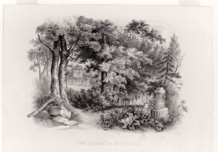 «The Cross of Rivaulx» par Charlotte Brontë, 24 juin 1836 copie d'après John Gilpin