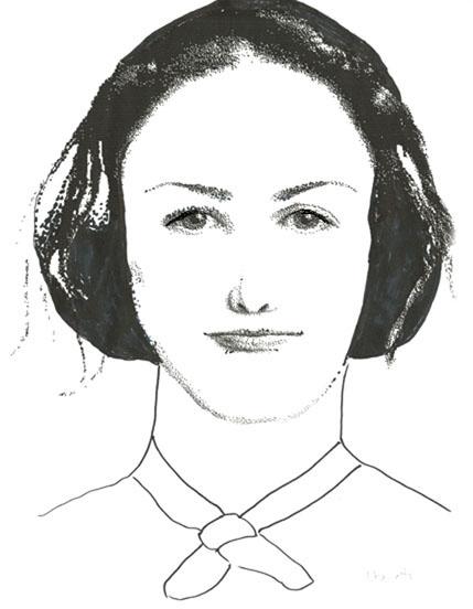 Portrait-robot de Charlotte Brontë par Louise Sanfaçon. Ultimate Flash Face v0.42b. (Cliquez sur l'image pour l'agrandir).