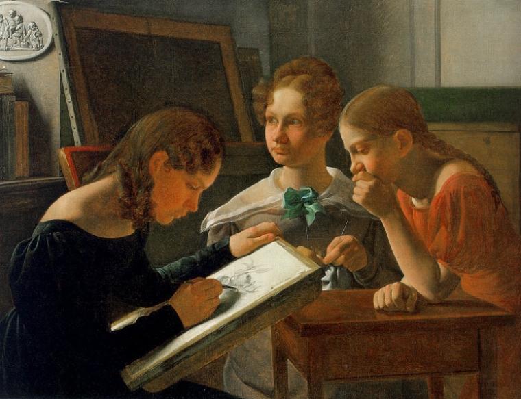 Les sœurs Hansen, 1827 © Constantin Hansen (1804-1880)