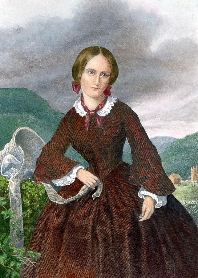 Charlotte Brontë, gravure rehaussée en couleurs de William Jackman. Photo: Barbara Cushing/Everett Collection.