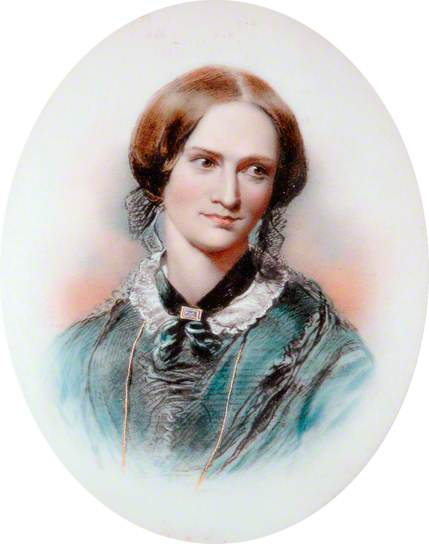 Charlotte Brontë, gravure d'après le dessin original de George Richmond. Kirklees Museums and Galleries; Supplied by The Public Catalogue Foundation