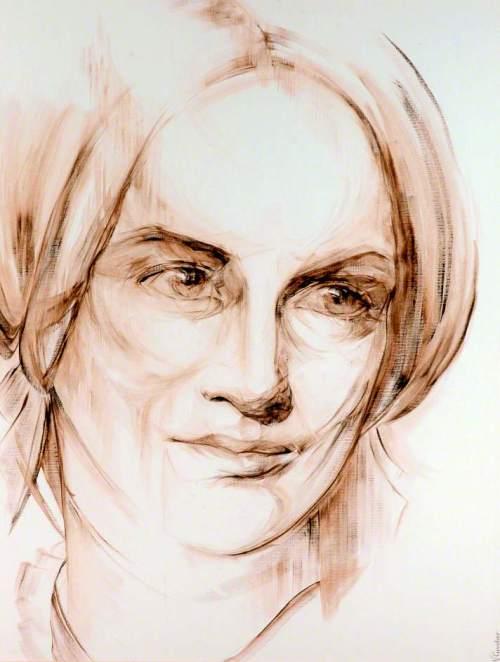 Charlotte Brontë © Virginie Cuvelier. Bronte Parsonage Museum; Supplied by The Public Catalogue Foundation
