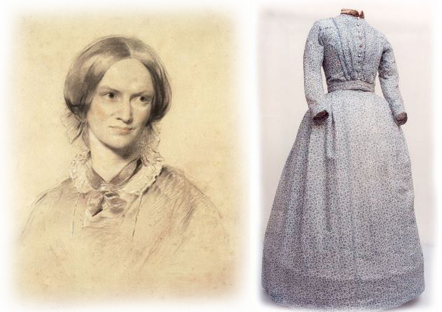 Portrait de Charlotte Brontë / Robe de Charlotte Brontë qui sera exposée à New York en 2016