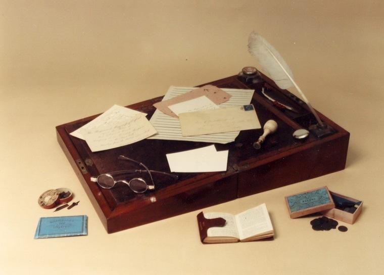L'écritoire portatif de Charlotte Brontë.