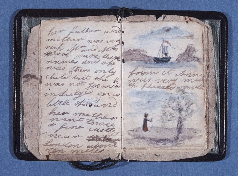 Livre miniature créé par Charlotte Brontë et offert à sa sœur Anne lorsqu'elle était enfant.