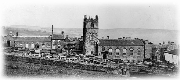Église d'Haworth c1860