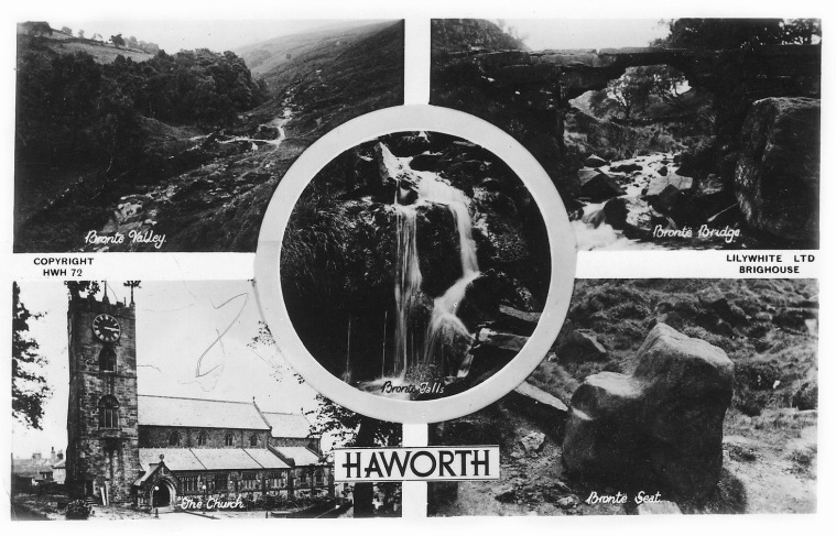 Ancienne carte postale d'Haworth