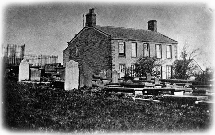 Haworth, Presbytère et maison des Brontë en1856
