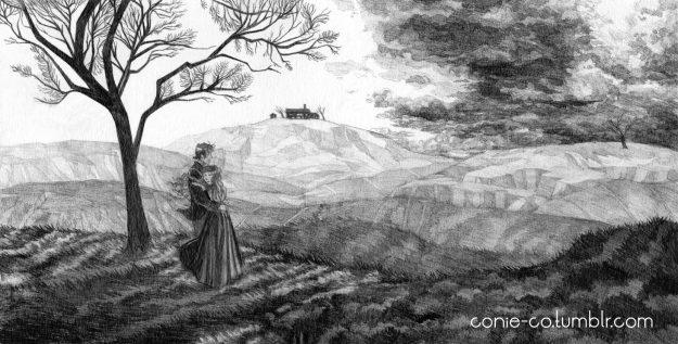 Les Hauts de Hurlevent © Coralie Nagel / Conie Co - «Finding Gondal - L'histoire des sœurs Brontë», 2015