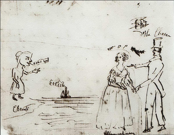Dessin de Charlotte Brontë, 1843.
