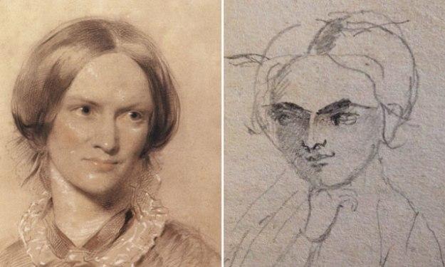 Portrait de Charlotte Brontë par George Richmond (1850) / par Charlotte Brontë (1843)