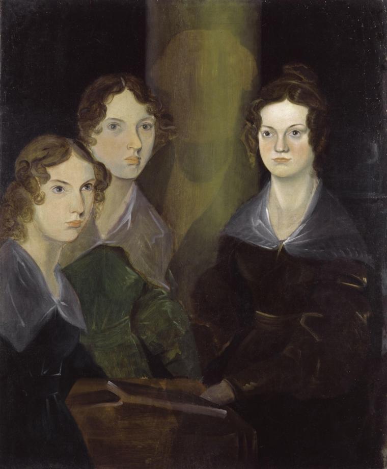 Anne, Emily et Charlotte, peintes par Branwell, 1834.