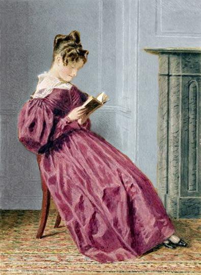 Charlotte lisant, d'après William Henry Hunt