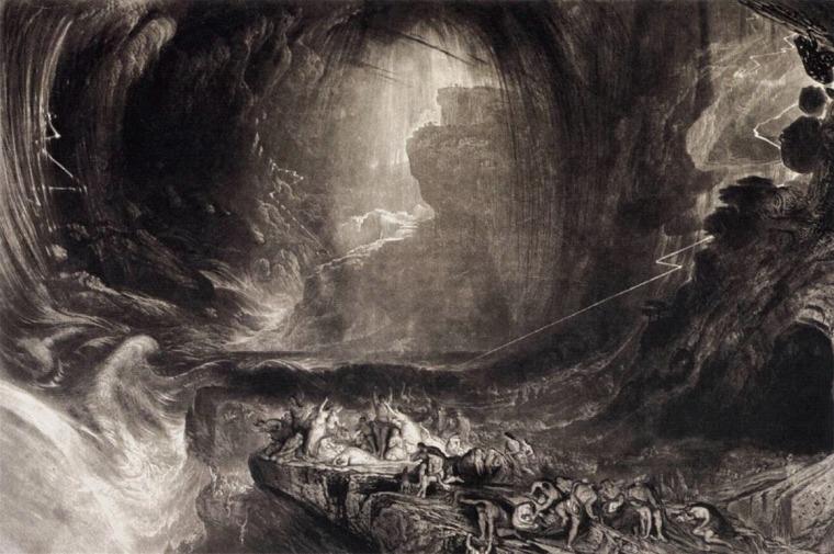 John Martin - «Le déluge»