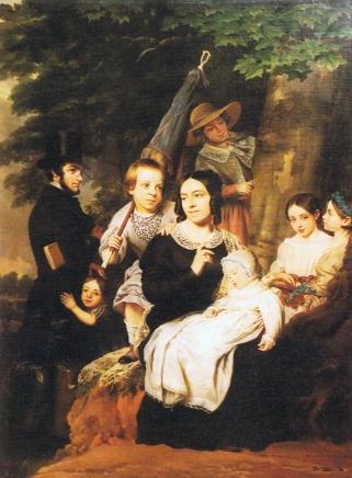 La famille Héger par Ange François, 1846